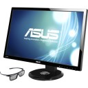 "Asus VG27AH 27"" 3D LED LCD Monitor - 16:9 - 5 ms - Adjustable Display Angle - 1920 x 1080 - 16.7 Million Colors - 250 Nit - 80,000,000:1 - Speakers - DVI - HDMI - VGA - Black - ErP, Energy Star, J-Moss (Japanese RoHS), RoHS, WEEE"